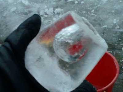 Design por la naturaleza: una linterna de hielo