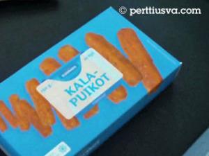 un paquete de dedos de pescado